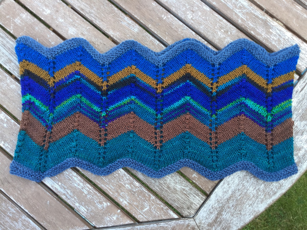 Ripple stitch cowl knitting pattern