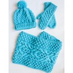 Bernat Chill Chaser Set (Hat, Mittens, Cowl)