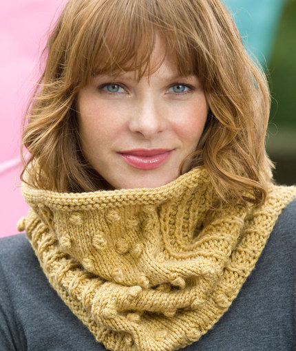 Free Free Bobble Stitch Cowl Knitting Patterns Patterns Knitting