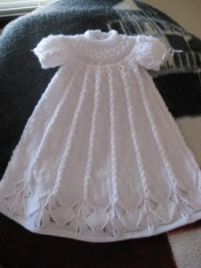 Free Knitting Patterns For Christening Gowns