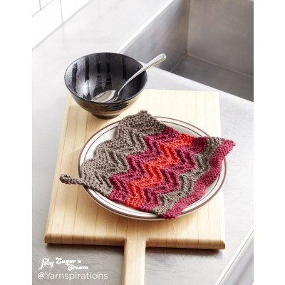 Changing Colours Knit Dishcloth Free Knitting Pattern