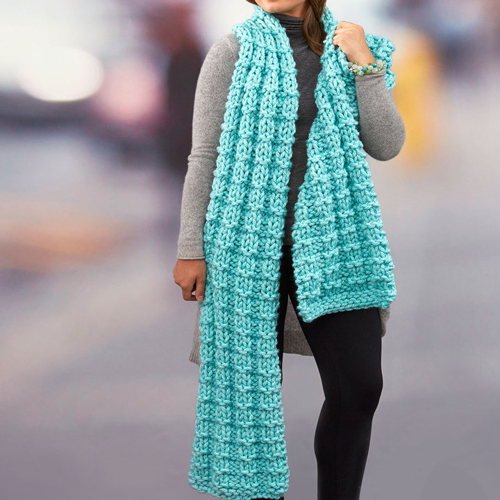 Everlasting Super Scarf Free Knitting Pattern Knitting Bee