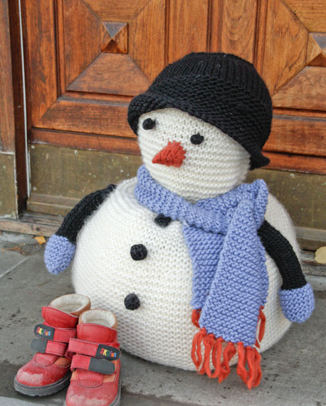 Frank snowman with scarf and hat