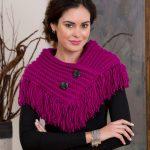 Fringed Cowl Free Knitting Pattern