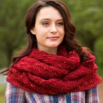 Garter and Lace Cowl Free Knitting Pattern