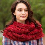 Garter and Lace Cowl Free Knitting Pattern