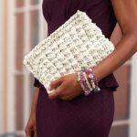 Glam Clutch Free Knitting Pattern