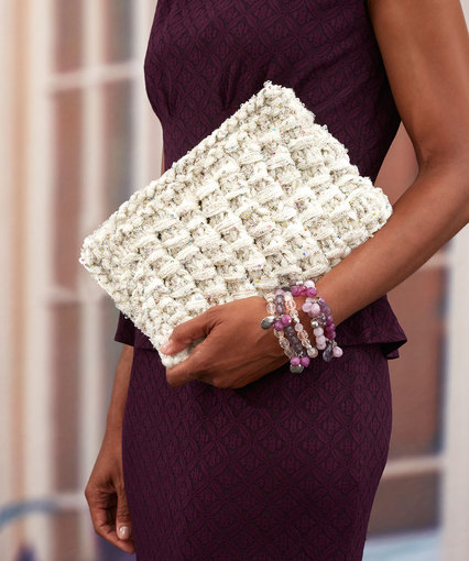 Glam Clutch Free Knitting Pattern
