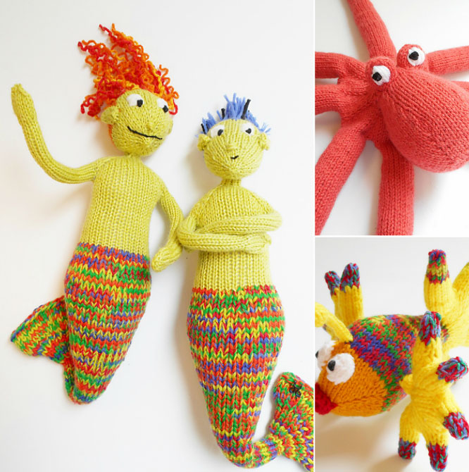 Knitted Underwater Heroes Patterns Knitting Bee