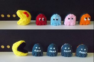 pac man knitting pattern