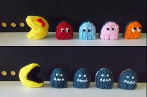 Pac-Man Play Set Free Knitting Pattern