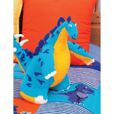 Patons Stegosaurus Toy Free Intermediate Child's Knit Pattern