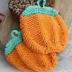 Roasted Pumpkin Free Potholder Knitting Pattern