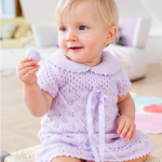 Sweet Lace Baby Dress Free Knitting Pattern