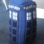 TARDIS stuffed plush free knitting pattern