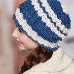 Wavy Skull Cap Free Knitting Pattern
