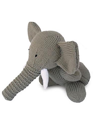 Wild Animal Elephant Toy Knitting Pattern