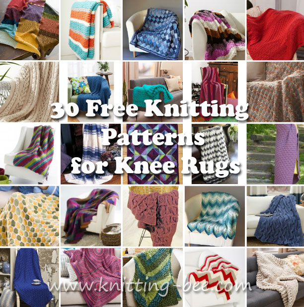 30 Free Knitting Patterns for Knee Rugs http://www.knitting-bee.com/
