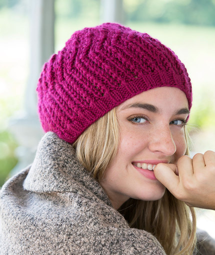 Beret Knit Pattern Free Easy : 50 Free Easy Hat Knitting Patterns for Winter ? Knitting Bee