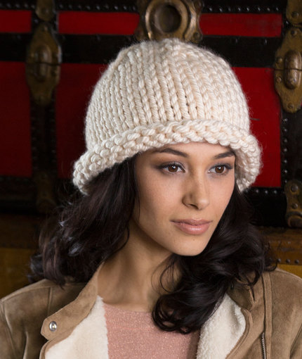eay buly hat knit pattern in the round