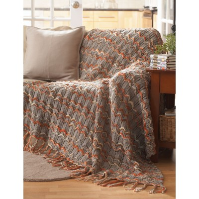 Bernat Ripple Throw free knitting pattern