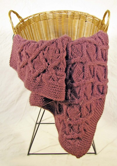 cable afghan free knitting pattern