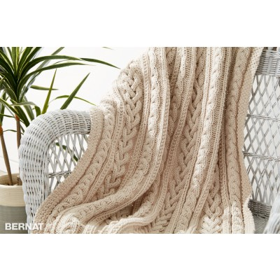 braided cable knee rug knitting pattern