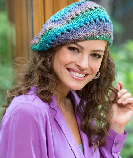 free lace beret pattern knit