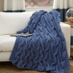 Casual Cables Throw Free Knitting Pattern
