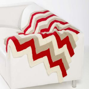 Chevron Stripe Throw Free knitting Pattern