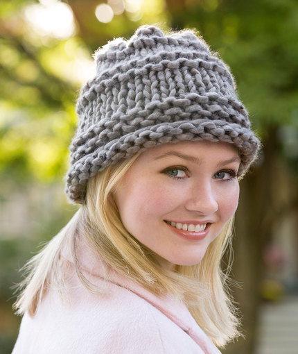 free hat knitting pattern with bulky yarn