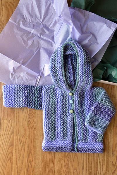 baby cardi knit pattern