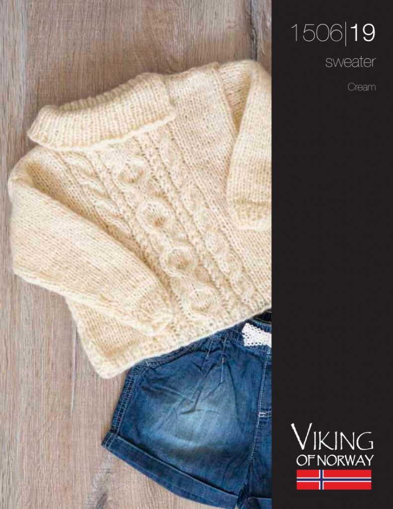 Cream Cable Sweater Free Knitting Pattern