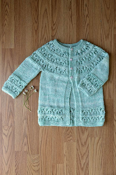 Cute as a Button Cardi Free Child's Knitting Pattern