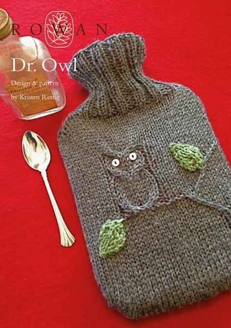 Aran /& Stocking Stitch Hot Water Bottle Covers ~    Knitting Pattern