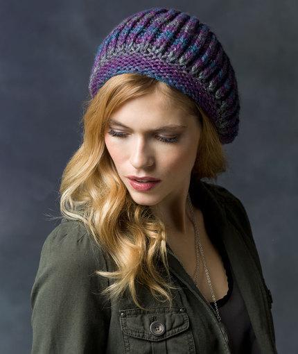 Faux Brioche Beret Free Knitting pattern