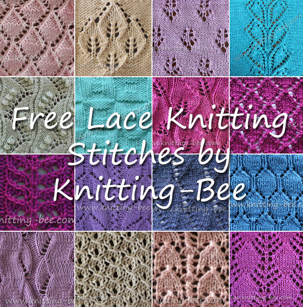 Free Lace Knitting Stitches http://www.knitting-bee.com/