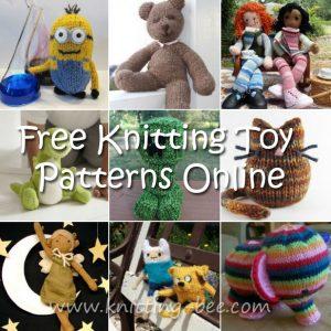 Free knitting toy patterns online https://www.knitting-bee.com/