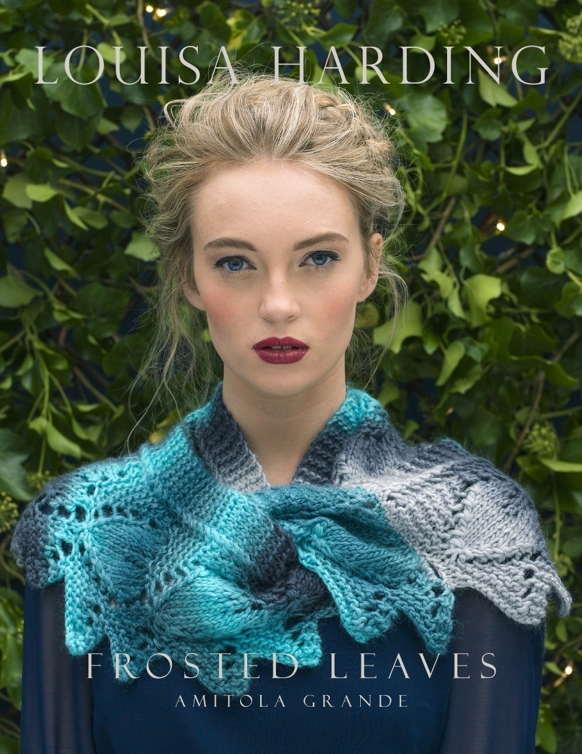 Frosted Leaves Free Lace Cowl Knitting Pattern