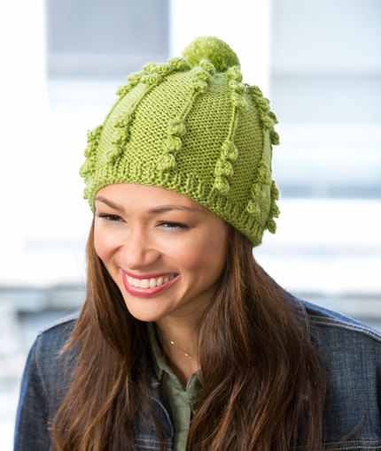 free bobbled hat knitting pattern
