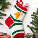 Holiday Stocking with Mitten Pocket Free Knit Pattern