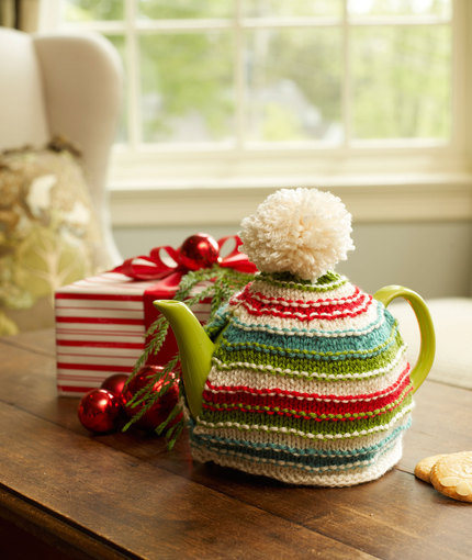 Christmas teapot cover knit pattern