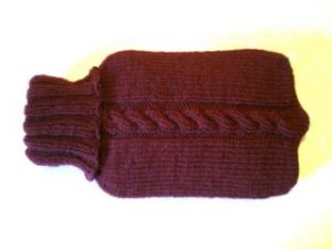 ISBN Cabled Hot Water Bottle Cozy
