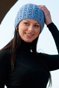 ribbed chunky hat pattern