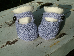 free booties knitting pattern