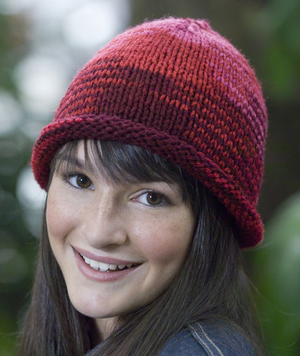 Knit Roll Brim Hat free knit pattern