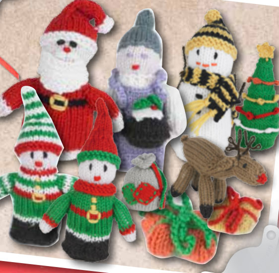 Knitting Patterns Christmas Figures : 81 free Items for the Home knitting patterns Knitting Bee Page 3 (81 free...