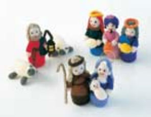 Knitted Nativity Scene free knitting pattern