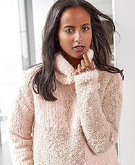 free turtleneck sweater knitting pattern