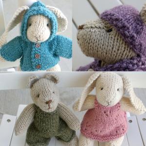 Rabbit and Bear Free Toy Knitting Pattern